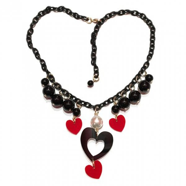 <img class='new_mark_img1' src='//img.shop-pro.jp/img/new/icons15.gif' style='border:none;display:inline;margin:0px;padding:0px;width:auto;' />【CALL for DOLL】LOVE NECKLACE Black c-lov002