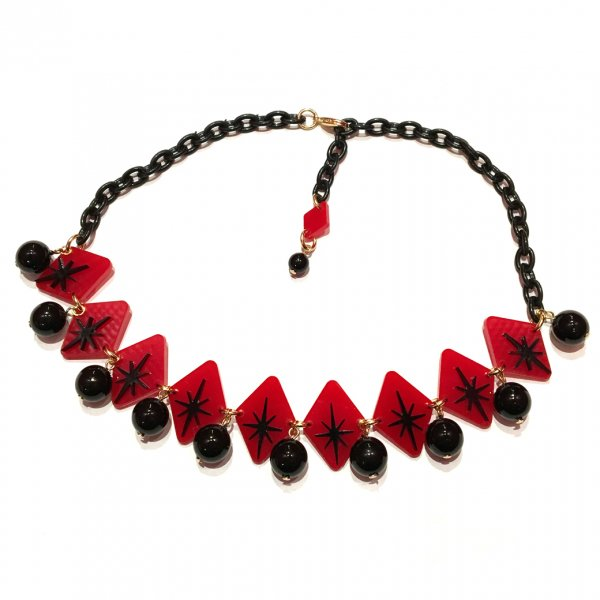 【CALL for DOLL】BURST STAR CHOKER Red c-bs003