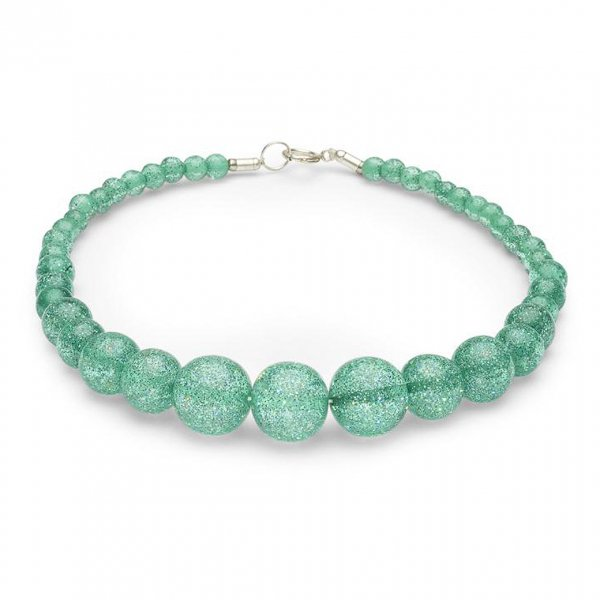 【Splendette】Green Lagoon Glitter Beads