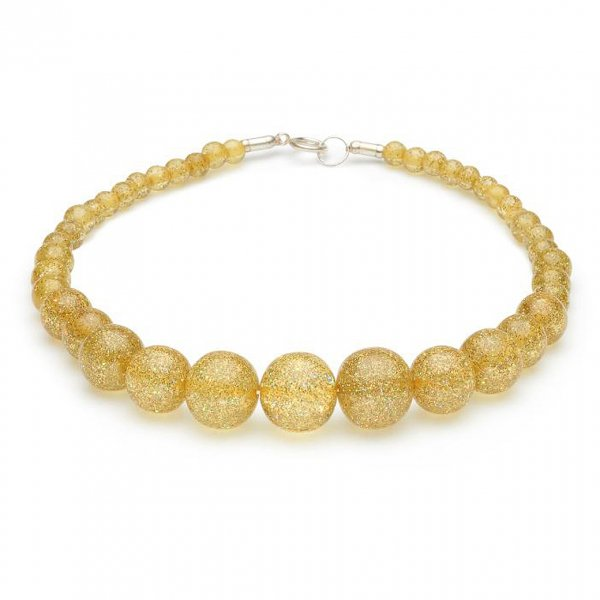 【Splendette】Pale Gold Glitter Beads