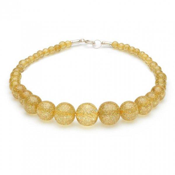 【Splendette】Pale Gold Glitter Beads