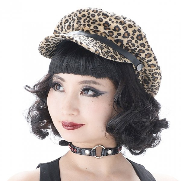 <img class='new_mark_img1' src='//img.shop-pro.jp/img/new/icons15.gif' style='border:none;display:inline;margin:0px;padding:0px;width:auto;' />【Valfre】Toni Page Boy Hat Leopard