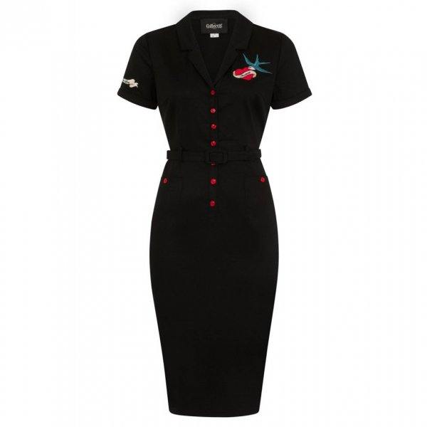 【Collectif】Caterina True Love Pencil Dress