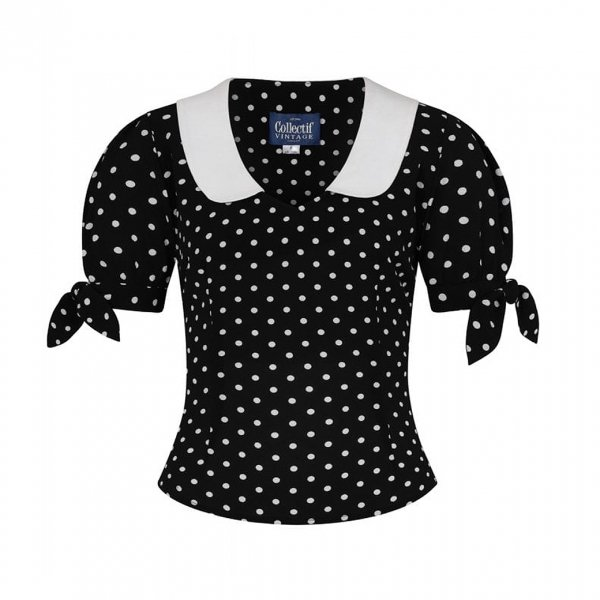 <img class='new_mark_img1' src='https://img.shop-pro.jp/img/new/icons11.gif' style='border:none;display:inline;margin:0px;padding:0px;width:auto;' />【Collectif】Mirella Polka Dot Top