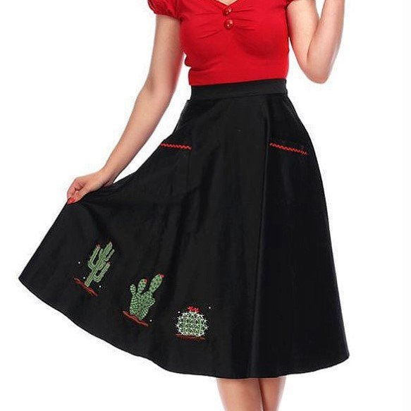 【Collectif】Silvia Cactus Swing Skirt