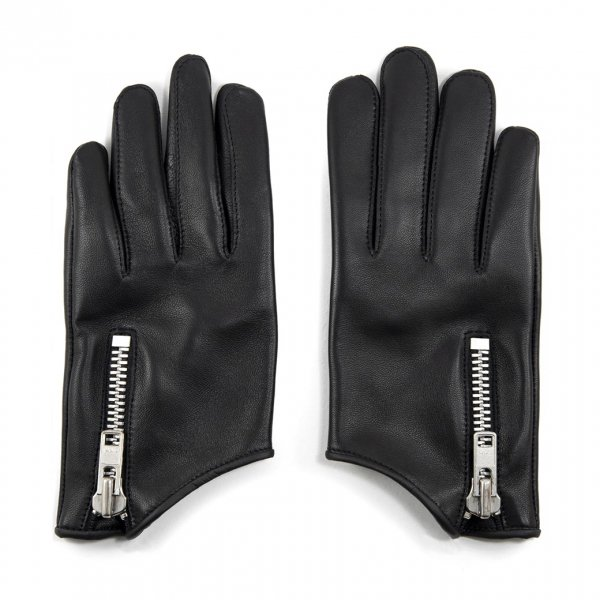 【STRAIGHT to HELL】Throttle Black Leather Gloves Men's