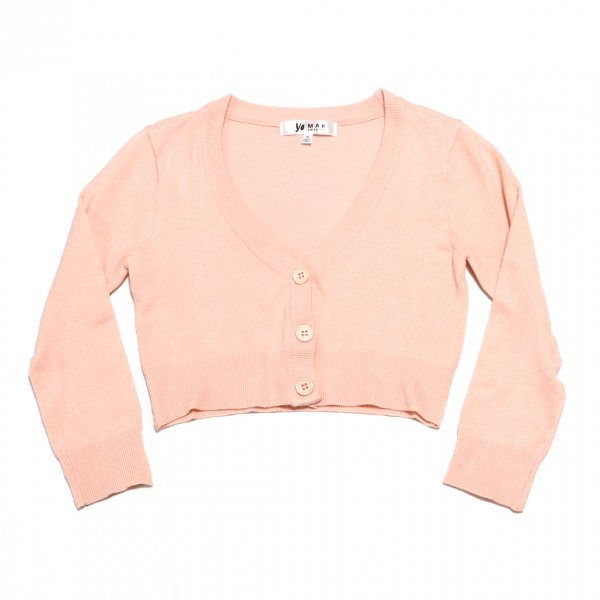 <img class='new_mark_img1' src='https://img.shop-pro.jp/img/new/icons11.gif' style='border:none;display:inline;margin:0px;padding:0px;width:auto;' />Cropped Cardigan Blush pink