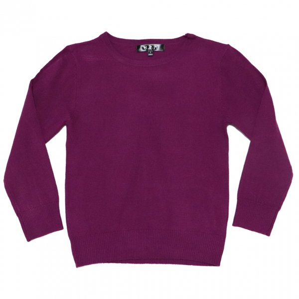 Retro Crew Neck Sweater Purple