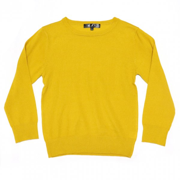 Retro Crew Neck Sweater Honey Yellow