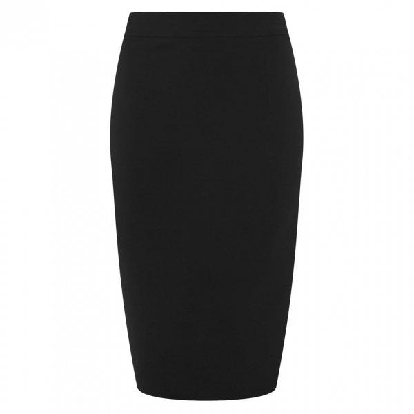 【Collectif】Polly Plain Bengaline Skirt Black ベーシックペンシルスカート