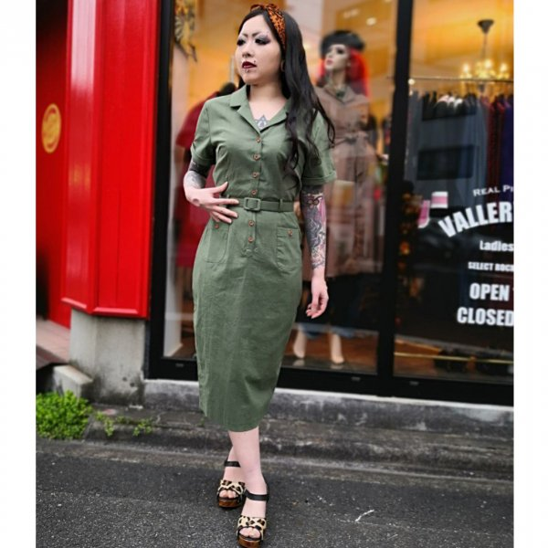 【Collectif】 Caterina Vintage Pencil Dress