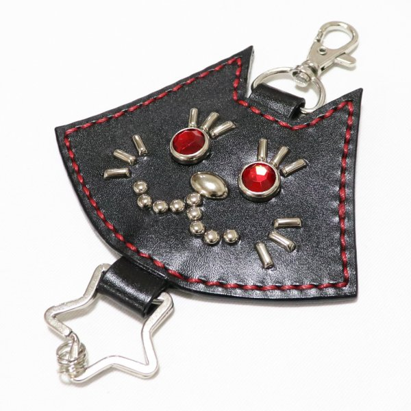 【King & Queen】BLACKCAT LEATHER KEHOLDER CHARM