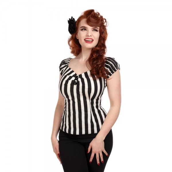 <img class='new_mark_img1' src='https://img.shop-pro.jp/img/new/icons11.gif' style='border:none;display:inline;margin:0px;padding:0px;width:auto;' />【Collectif】Mainline Dolores Striped Top