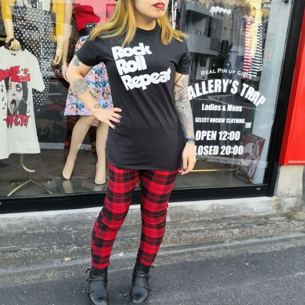 【Unique Vintage】 Rizzo Pants Red & Black Plaid Lサイズ