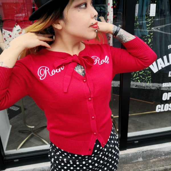 【Collectif】Mainline Charlene Rock Roll Cardigan UK16/XLサイズ