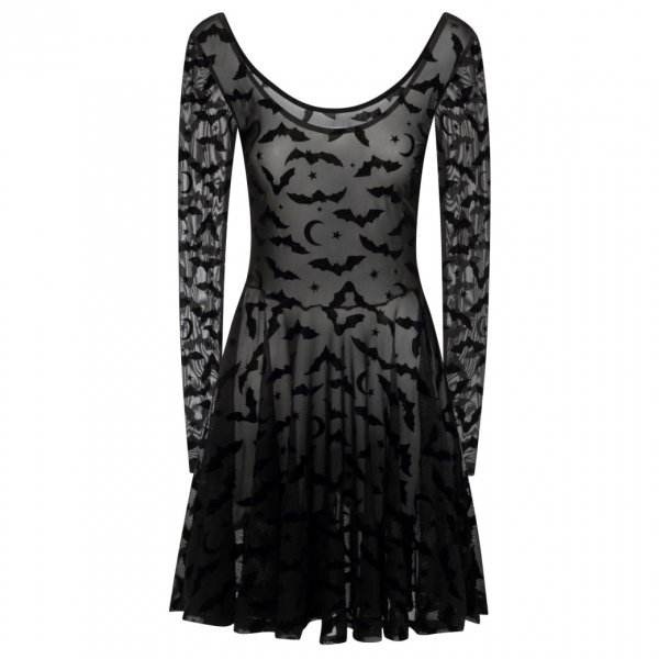【collectif】Elena Bat Mesh Skater Dress