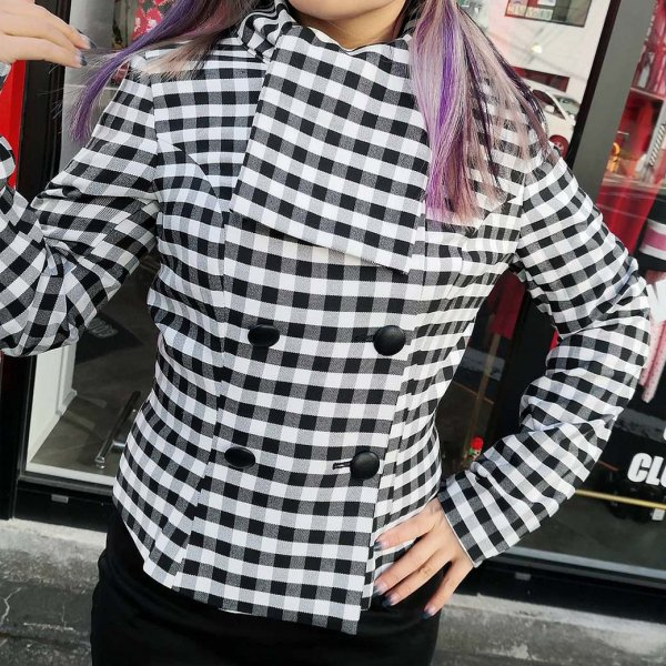 <img class='new_mark_img1' src='https://img.shop-pro.jp/img/new/icons11.gif' style='border:none;display:inline;margin:0px;padding:0px;width:auto;' />【collectif】Lorrina Gingham Jacket