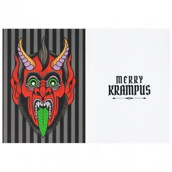 <img class='new_mark_img1' src='https://img.shop-pro.jp/img/new/icons11.gif' style='border:none;display:inline;margin:0px;padding:0px;width:auto;' />【SOURPUSS】Greetings from Krampus! クリスマスカード/クランプス