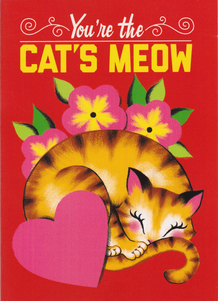 <img class='new_mark_img1' src='https://img.shop-pro.jp/img/new/icons11.gif' style='border:none;display:inline;margin:0px;padding:0px;width:auto;' /> 【SOURPUSS】CATS MEOW GREETING CARD 限定猫グリーティングカードA