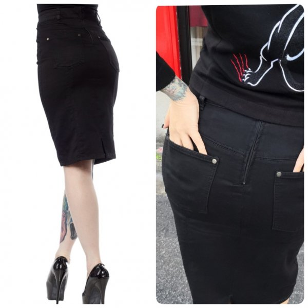 【SOURPUSS】ESSENTIAL POCKET PENCIL SKIRT BLACK