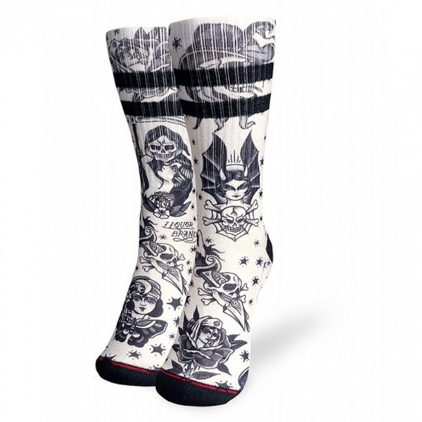 <img class='new_mark_img1' src='https://img.shop-pro.jp/img/new/icons1.gif' style='border:none;display:inline;margin:0px;padding:0px;width:auto;' />【Liquor brand】Classic Tatto Socks ユニセックスタトゥーソックス