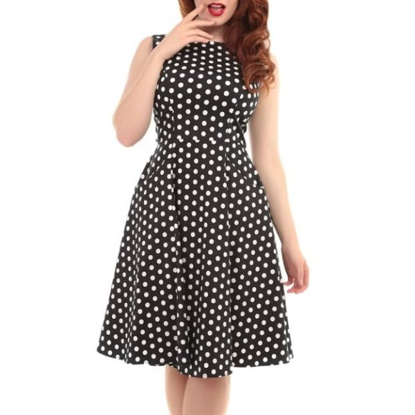 <img class='new_mark_img1' src='https://img.shop-pro.jp/img/new/icons1.gif' style='border:none;display:inline;margin:0px;padding:0px;width:auto;' />【Collectif】Hepburn Polka Dot Doll Dress