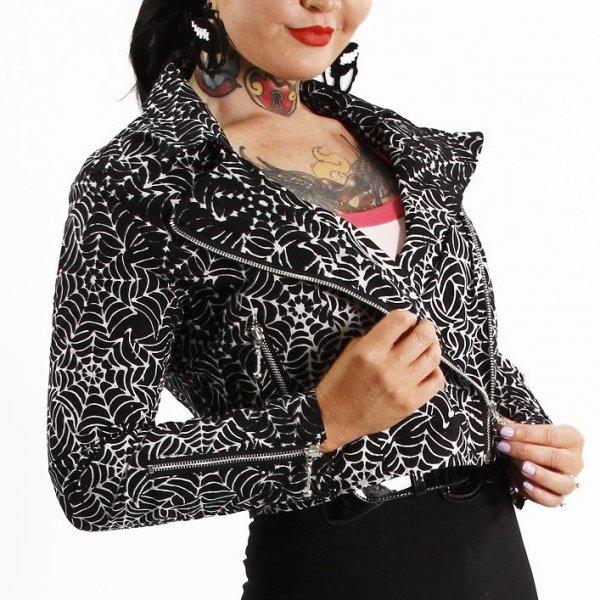 【Bonsai Kitten】Black Widow Biker Jacket スパイダーウェブ バイカージャケット