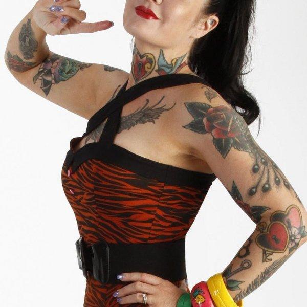 【Bonsai Kitten】Temptress Tiger Crop Bodice Top