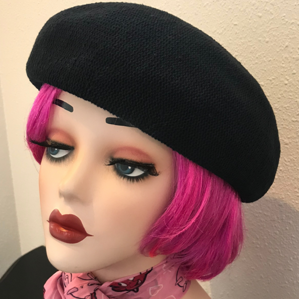 コットンサーモベレー帽 ブラック