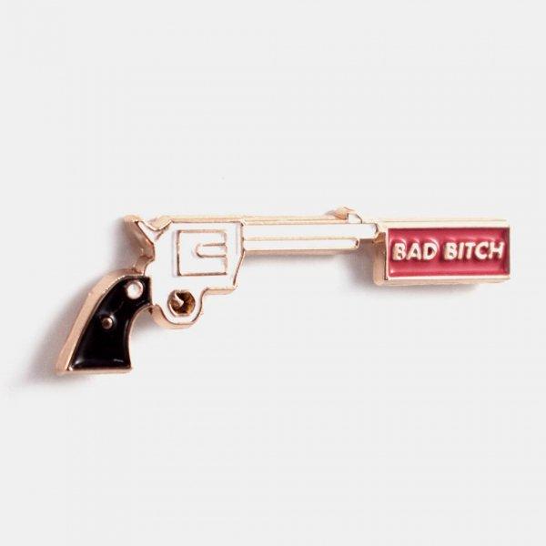 【Badaboöm Studio】Bad Bitch Pin ピストルビッチピンバッジ