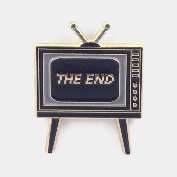 【Badaboöm Studio】The End Pin テレビジョンピンバッジ