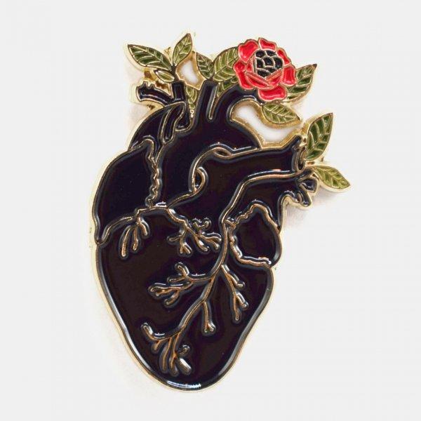 【Badaboöm Studio】Black Heart Pin 心臓ピンバッジ