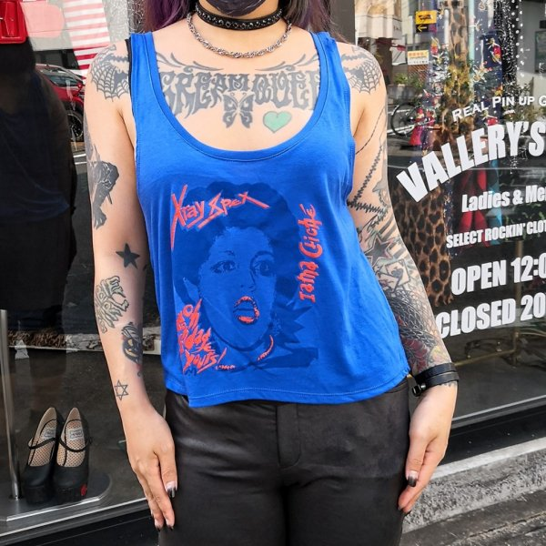 <img class='new_mark_img1' src='https://img.shop-pro.jp/img/new/icons1.gif' style='border:none;display:inline;margin:0px;padding:0px;width:auto;' />【ROCK ROLL REPEAT】Oh Bondage! Tank Top ボンテージタンクトップ★ネコポス全国一律¥250にてお届け★