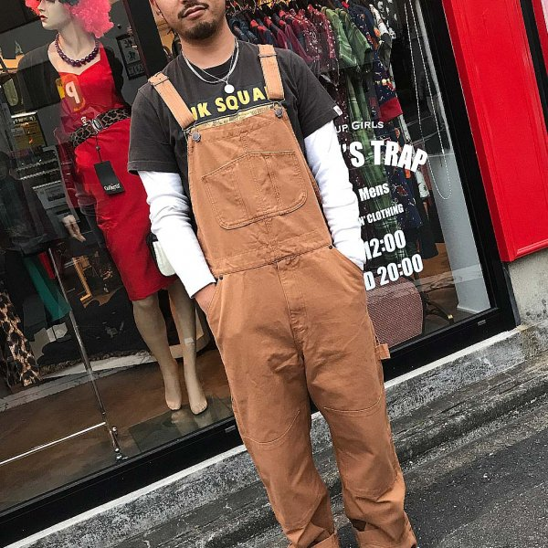 <img class='new_mark_img1' src='https://img.shop-pro.jp/img/new/icons1.gif' style='border:none;display:inline;margin:0px;padding:0px;width:auto;' />【Chet Rock】Stan Workwear Dungarees オーバオール