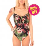 <img class='new_mark_img1' src='//img.shop-pro.jp/img/new/icons24.gif' style='border:none;display:inline;margin:0px;padding:0px;width:auto;' />【IRON FIST】Reina Muerte Bow Front Swimsuit Lサイズ(11号程度)