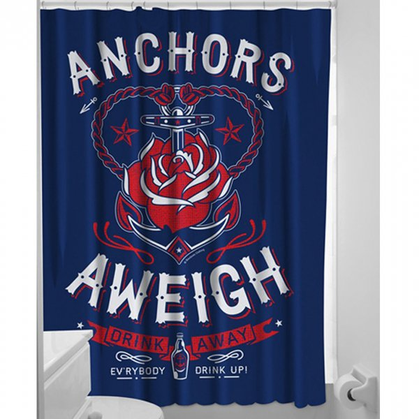 【SOURPUSS】ANCHORS AWEIGH SHOWER CURTAIN