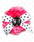 【Punk Up Bettie】Ahoy Black Anchor Sparkle Polka Dot Psycho Pink Hair Flower