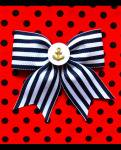 <img class='new_mark_img1' src='//img.shop-pro.jp/img/new/icons24.gif' style='border:none;display:inline;margin:0px;padding:0px;width:auto;' />【Punk Up Bettie】Retro Sailor Girl Anchor and Stripes Hair Bow Navy