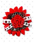 【Punk Up Bettie】Pin Up Daisy Sparkly Red Rose Tattoo Bow Hair Flower