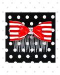 <img class='new_mark_img1' src='https://img.shop-pro.jp/img/new/icons24.gif' style='border:none;display:inline;margin:0px;padding:0px;width:auto;' />【Punk Up Bettie】Nautical Cutie Bow and Stripes Hair Comb Red