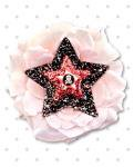 【Punk Up Bettie】Pinup Sparkly Stars and Sweetie Skull Pink Hair Flower
