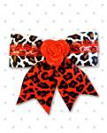 <img class='new_mark_img1' src='//img.shop-pro.jp/img/new/icons24.gif' style='border:none;display:inline;margin:0px;padding:0px;width:auto;' />【Punk Up Bettie】Rockin' Rose and Lace Red White Leopard Hair Bow