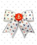 <img class='new_mark_img1' src='https://img.shop-pro.jp/img/new/icons24.gif' style='border:none;display:inline;margin:0px;padding:0px;width:auto;' />【Punk Up Bettie】Vintage Sailor Doll Anchors and Stars Hair Bow Ivory