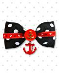 <img class='new_mark_img1' src='//img.shop-pro.jp/img/new/icons24.gif' style='border:none;display:inline;margin:0px;padding:0px;width:auto;' />【Punk Up Bettie】Sailor Gal Anchors Stars & Dots Hair Bow