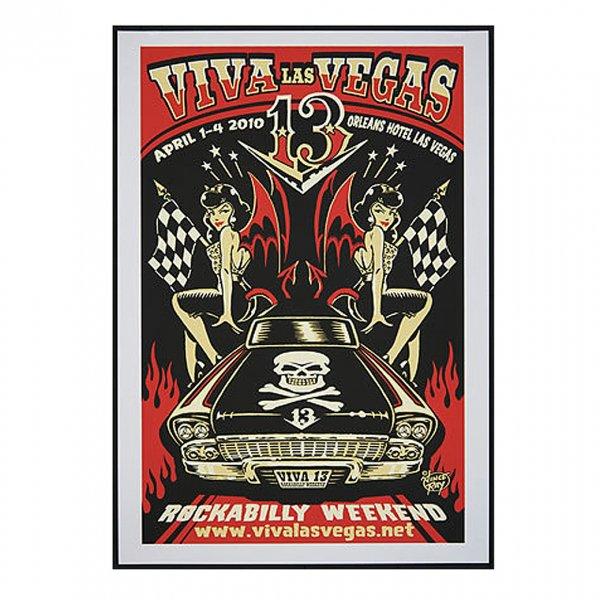Vince Ray Viva Las Vegas 13 Silkscreen Event Poster 2010