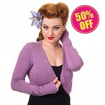 <img class='new_mark_img1' src='//img.shop-pro.jp/img/new/icons24.gif' style='border:none;display:inline;margin:0px;padding:0px;width:auto;' />20%OFF【BANNED】Plain Bolero Lavender