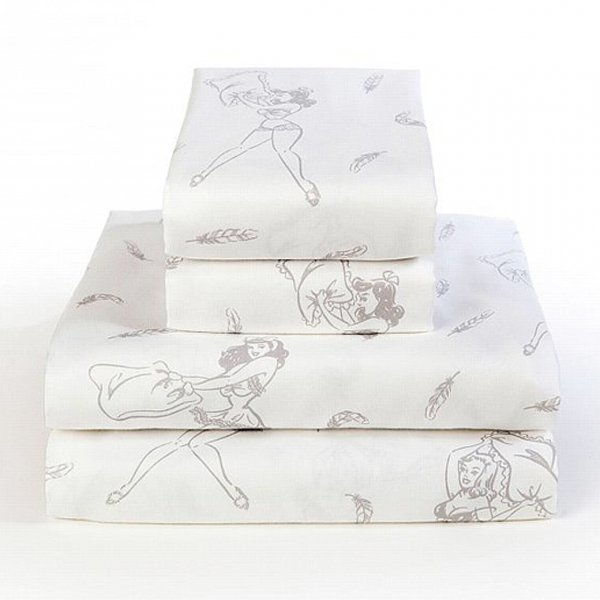 【Sin in Linen】Pillow Fight Sheet Set -Full- (日本のセミダブルサイズ相応)
