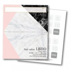 【二つ折りカード】大理石風ミックスPK