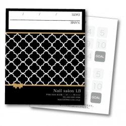 【二つ折りカード】モロッコ柄ブラック