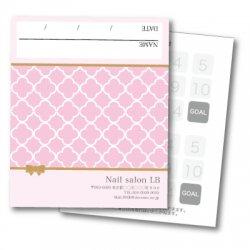 【二つ折りカード】モロッコ柄ピンク